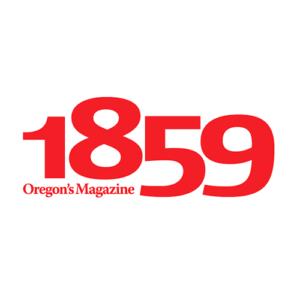 1859 Oregon's Magazine logo designed by Anouk Tapper