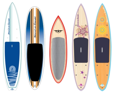 Stand on Liquid branding and paddleboard designs by Anouk Tapper