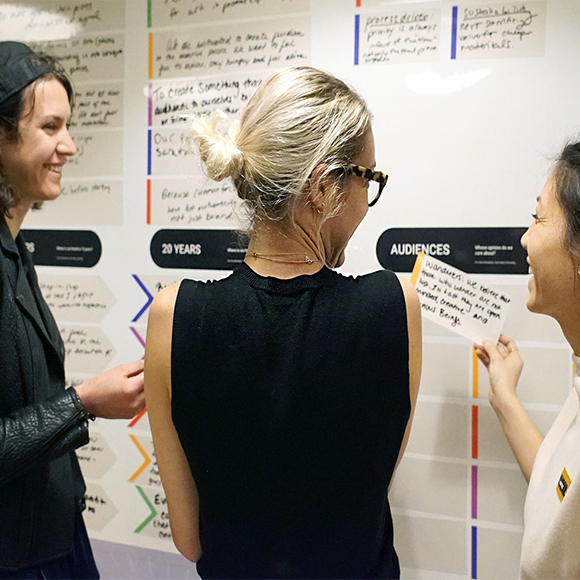 Branding workshops and audience personana development